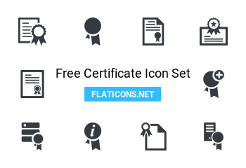 Certificate Icon Pack